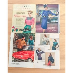 Lot of 100 Vintage Fashion Magazine Pages